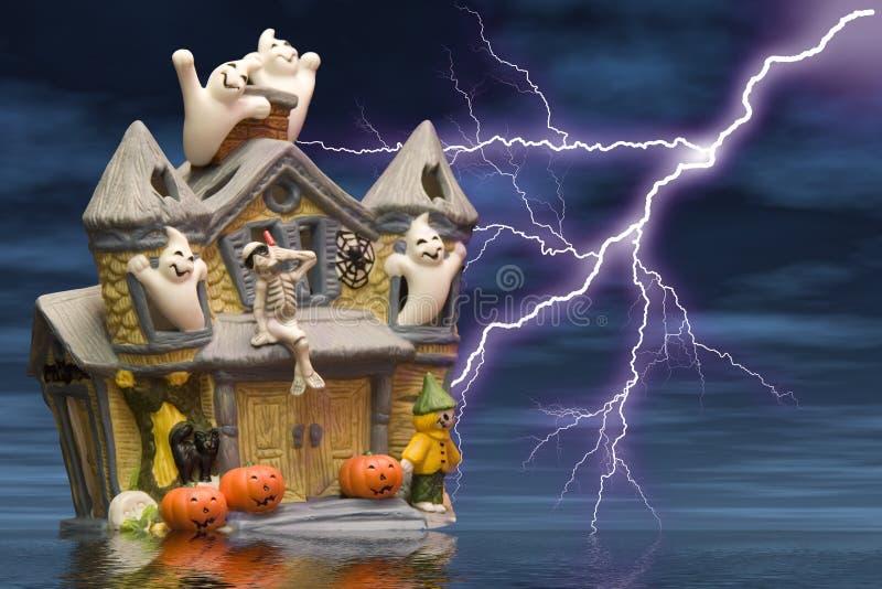 Download Het huis van het spook stock illustratie. Illustratie bestaande uit spook - 284967