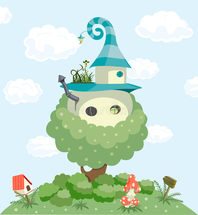 Het huis van het sprookje stock illustratie
