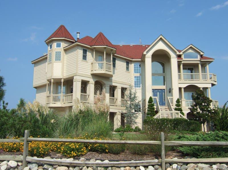 Het Huis van het strand stock afbeelding