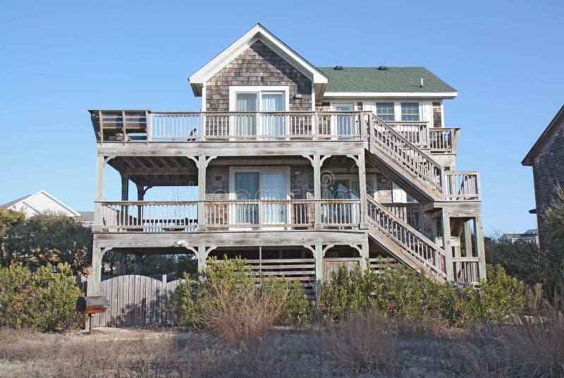 Het huis van het strand in Noord-Carolina stock foto