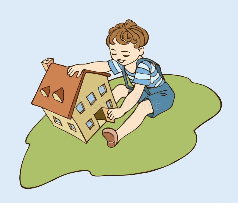 Het huis van het stuk speelgoed vector illustratie