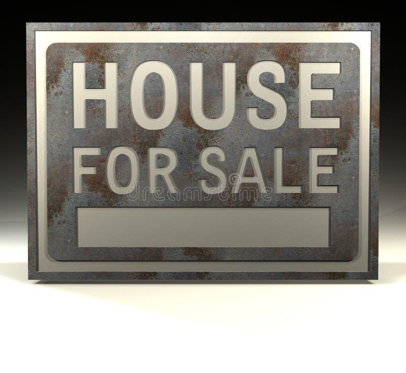 Het huis van het Teken van info voor verkoop royalty-vrije illustratie