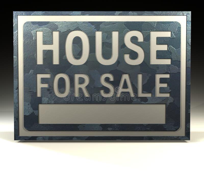 Het huis van het Teken van info voor verkoop stock illustratie