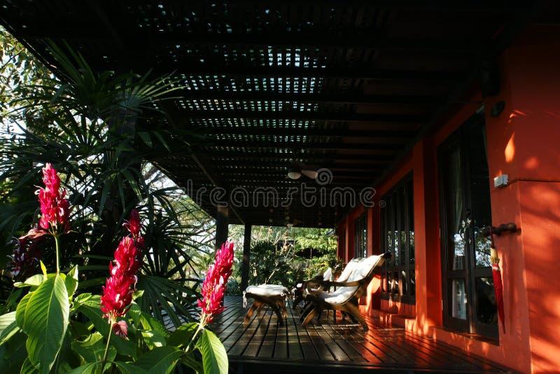 Het huis van het terras stock fotografie