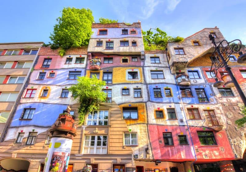Het Huis van Hundertwasser in Wenen, Oostenrijk royalty-vrije stock foto