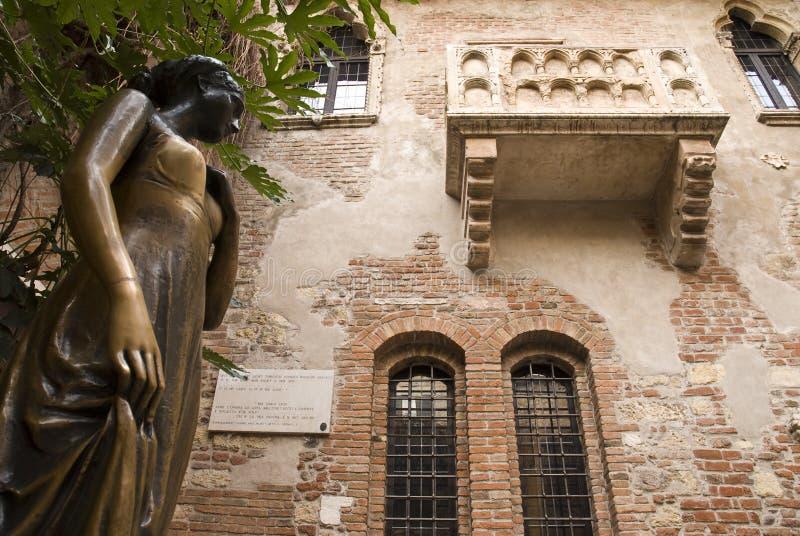 Het Huis van Juliet, Verona, Italië royalty-vrije stock foto