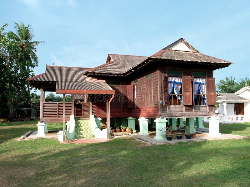 Het huis van Kampung stock afbeelding