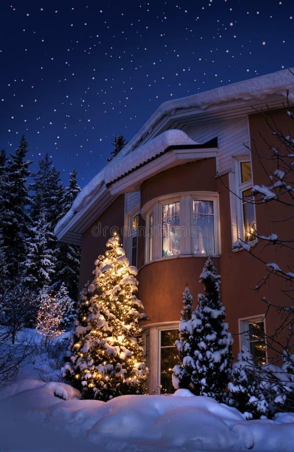 Het huis van Kerstmis stock foto