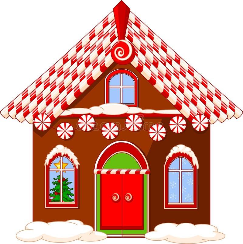 Het huis van Kerstmis stock illustratie