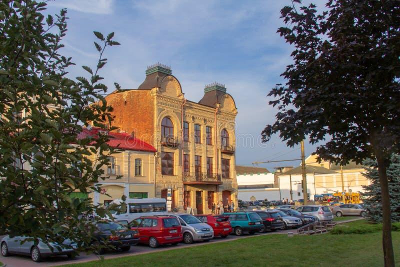 Het huis van koopvaardijMuraveva in Grodno royalty-vrije stock foto's