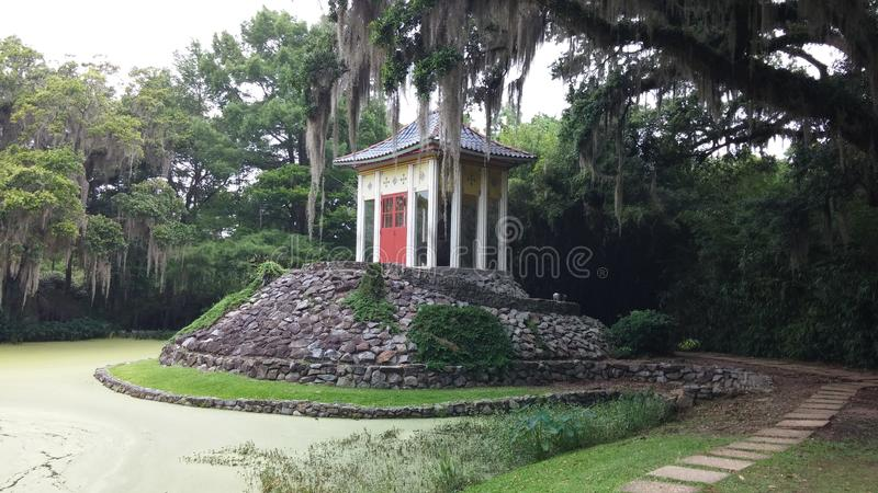 Het huis van Louisiane Boedha stock foto's