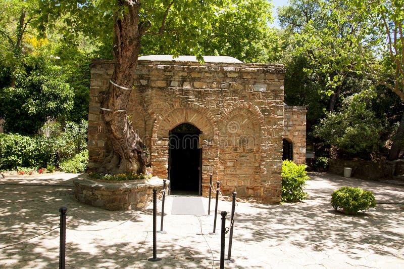 Het Huis van Maagdelijke Mary, Ephesus, Turkije stock fotografie