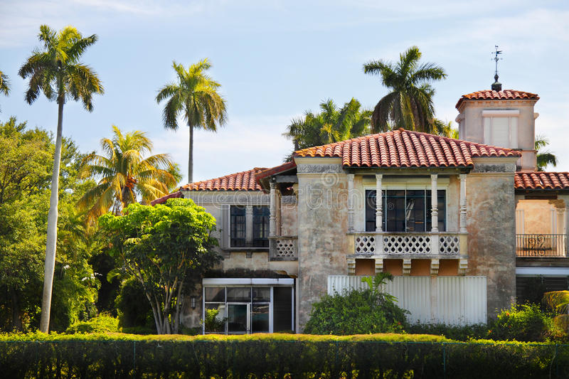 Het huis van Miami stock afbeelding