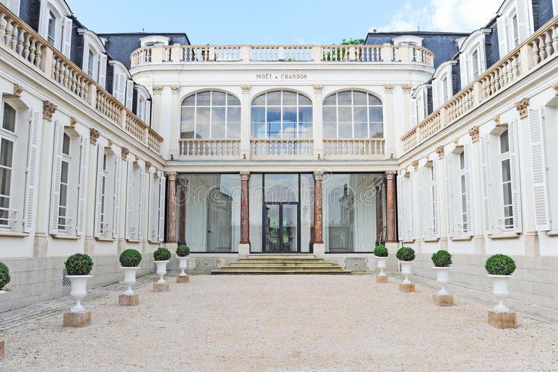 Het Huis van Moet & Chandon Champagne stock foto's