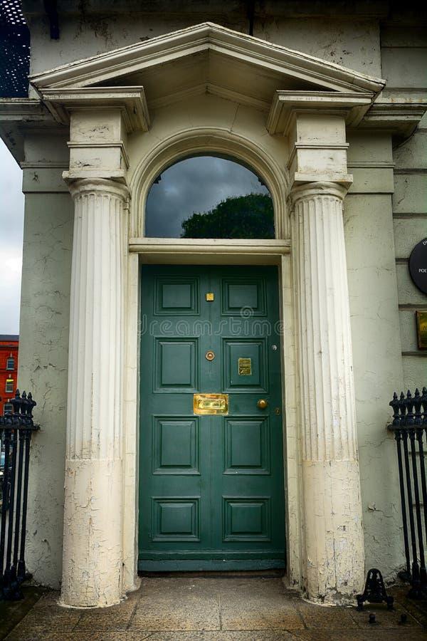 Het huis van Oscar Wilde ` s bij Merrion-Vierkant, Dublin, Ierland royalty-vrije stock foto