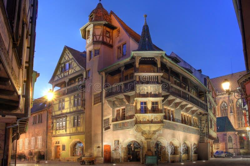 Het Huis van Pfister, Colmar, Frankrijk stock afbeelding