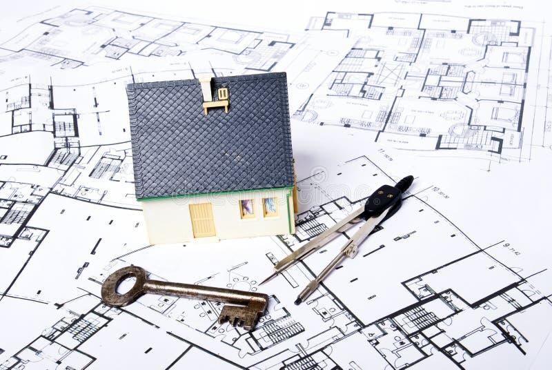 Het huis van plannen royalty-vrije stock foto