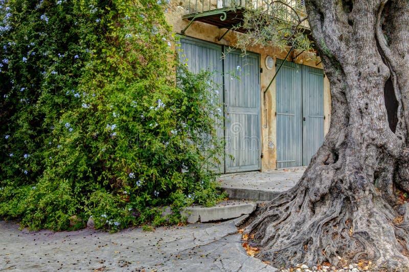 Het huis van Renoir van het museum. Cagnes-sur-Mer stock afbeelding