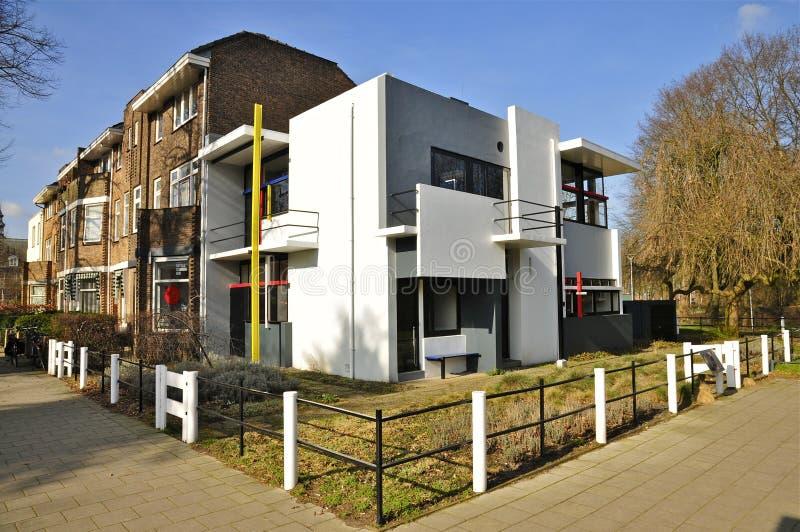 Het Huis van Rietveldschrã¶der (1923-1924) stock foto