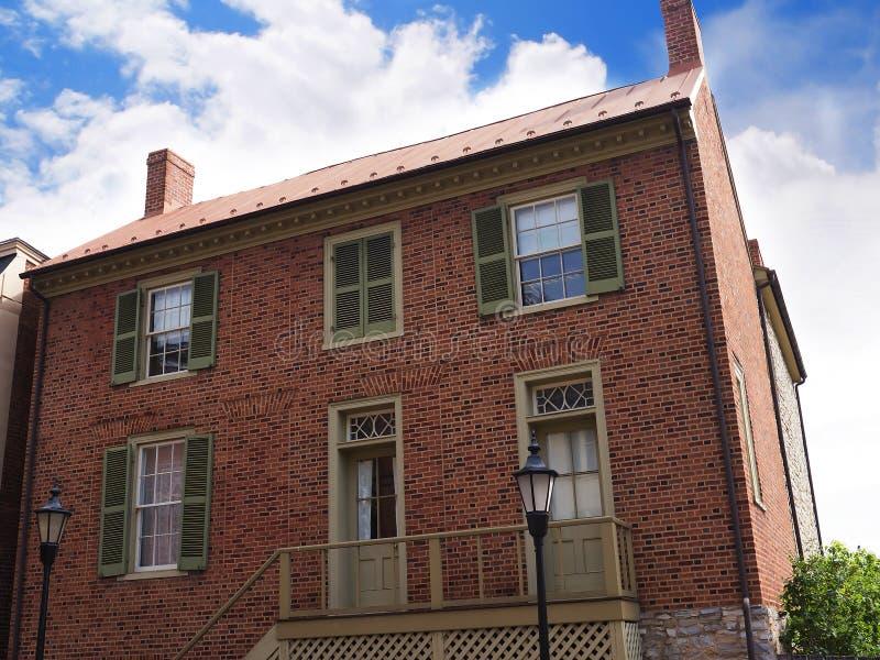 Het Huis van Stonewall Jacksons in Lexington Virginia de V.S. stock fotografie