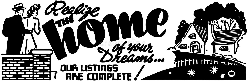 Het huis van uw dromen vector illustratie