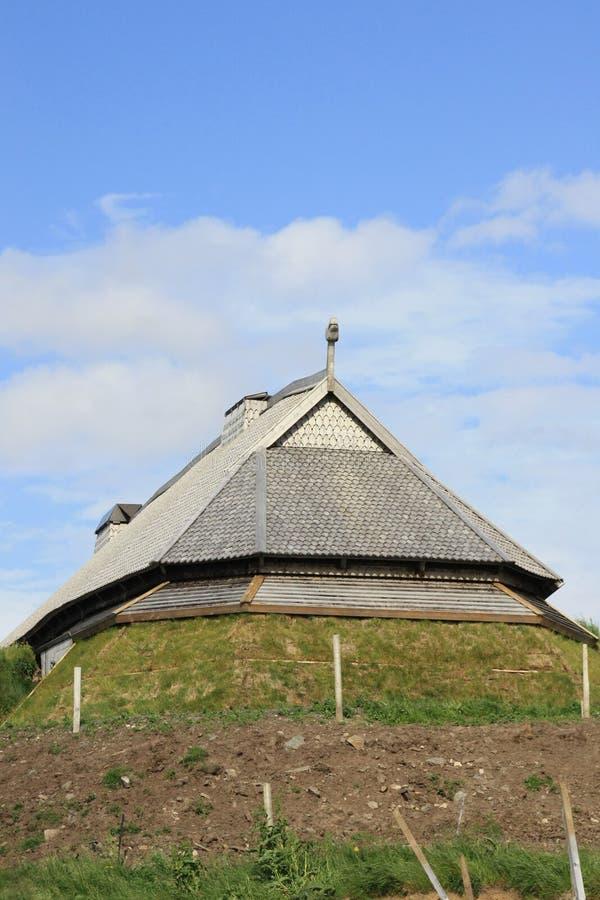 Het Huis van Viking in verticaal royalty-vrije stock afbeelding