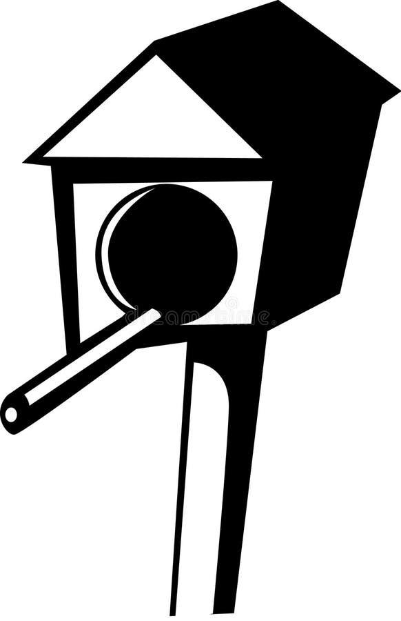 Het huis van vogels stock illustratie