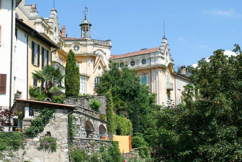 Het huis waar de beroemde schrijver Hermann Hesse leefde stock afbeelding