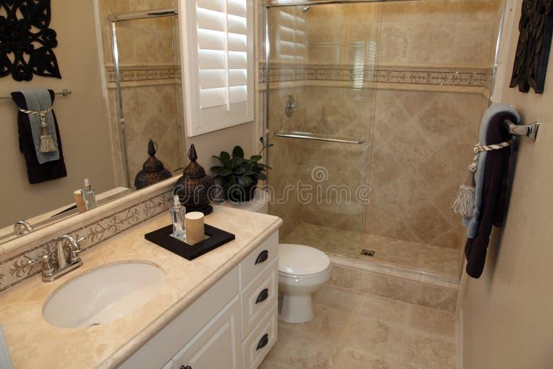 Het huisbadkamers van de luxe stock afbeeldingen