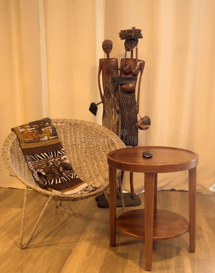 Het huisbinnenland van de details Afrikaans stijl stock afbeelding