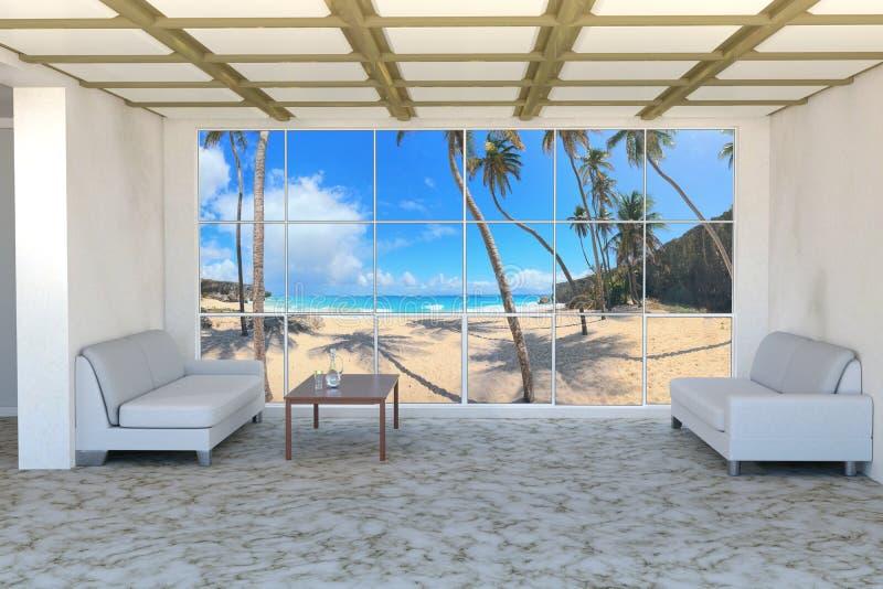 Het huisbinnenland van Palm Beach royalty-vrije illustratie