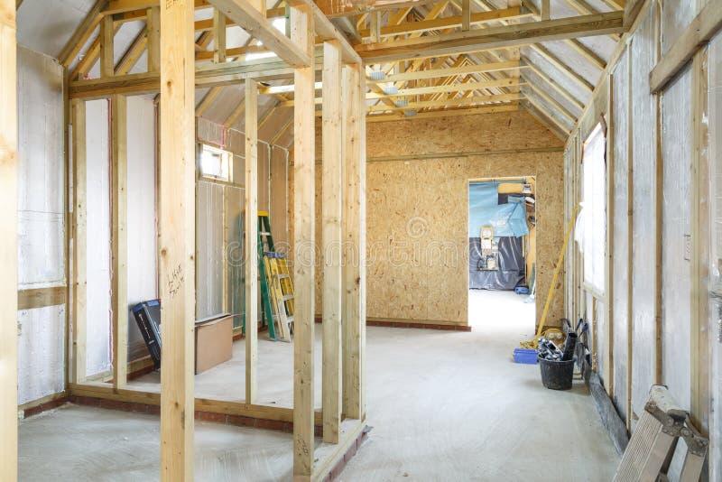 Het huisbouw van het houtkader royalty-vrije stock fotografie