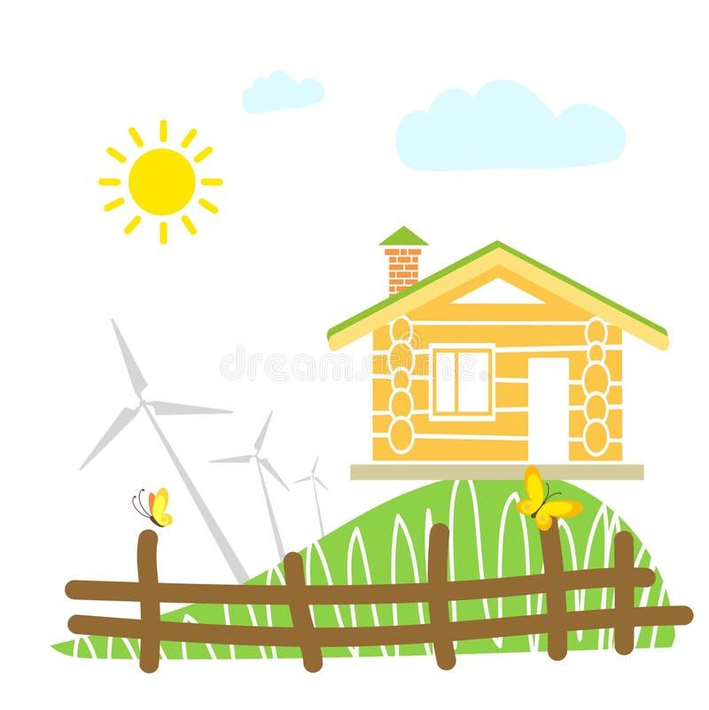 Het huisconcept van Eco stock illustratie