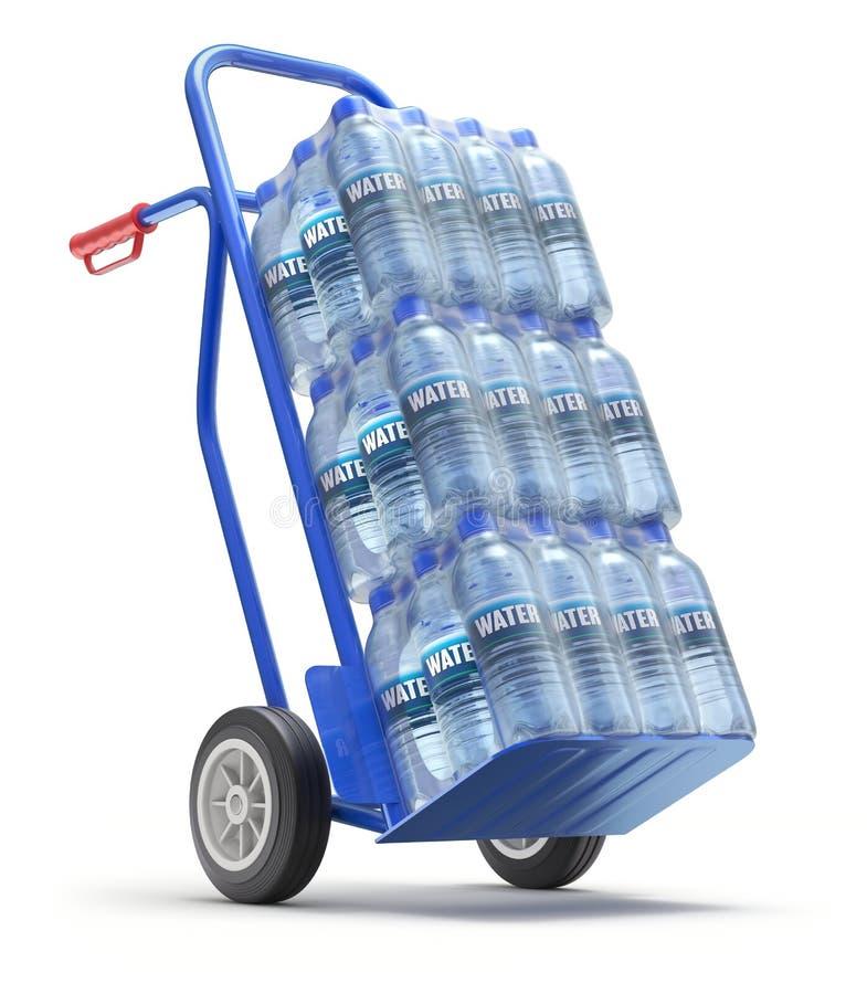 Het HUISDIER pakte gebotteld water in royalty-vrije illustratie