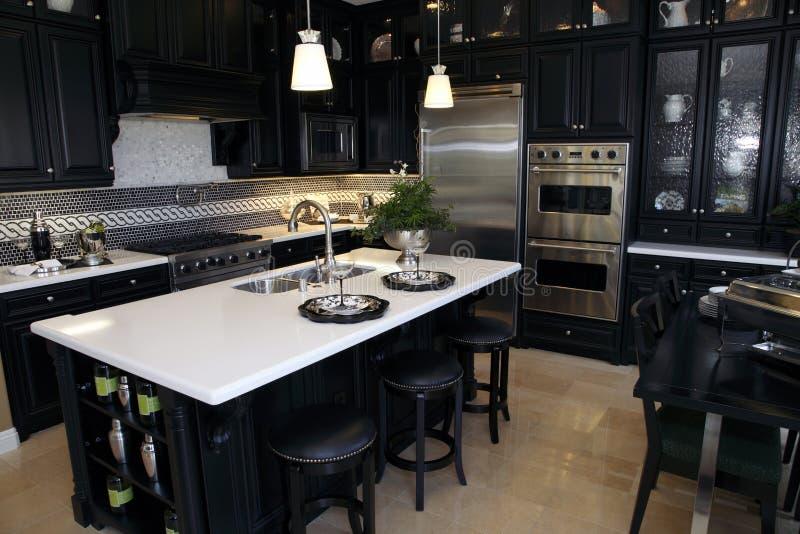 Het huiskeuken van de luxe stock foto