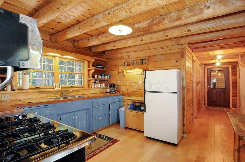 Het huiskeuken van het logboek royalty-vrije stock foto