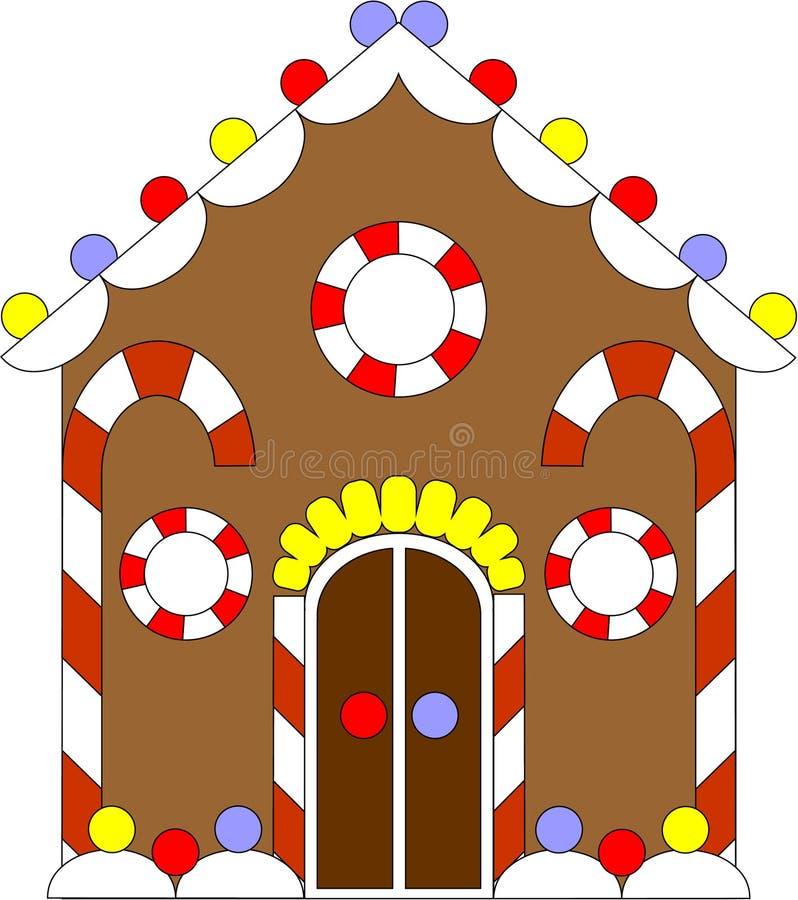 Het huiskleur 02 van de peperkoek vector illustratie