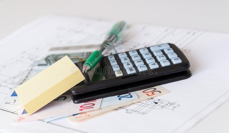 Het huiskosten van de planning stock afbeelding