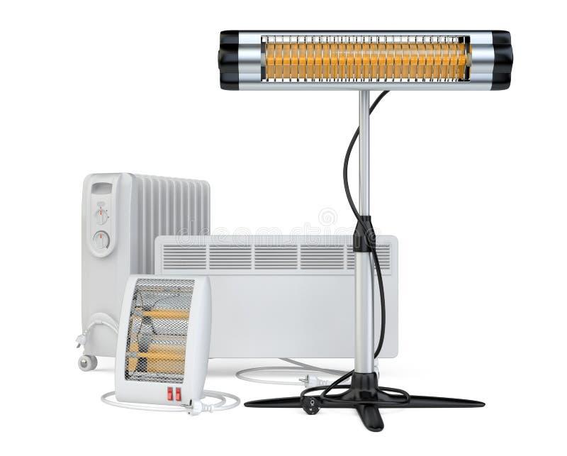 Het huismateriaal om te verwarmen, halogeen of infrared, bedriegt, quar royalty-vrije illustratie