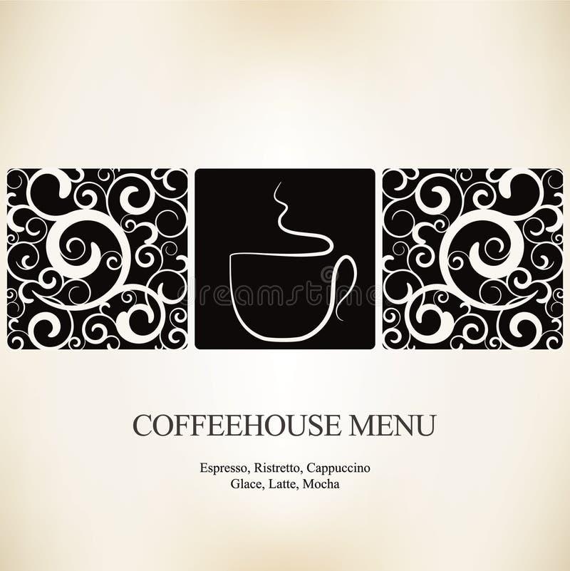 Het huismenu van de koffie stock illustratie