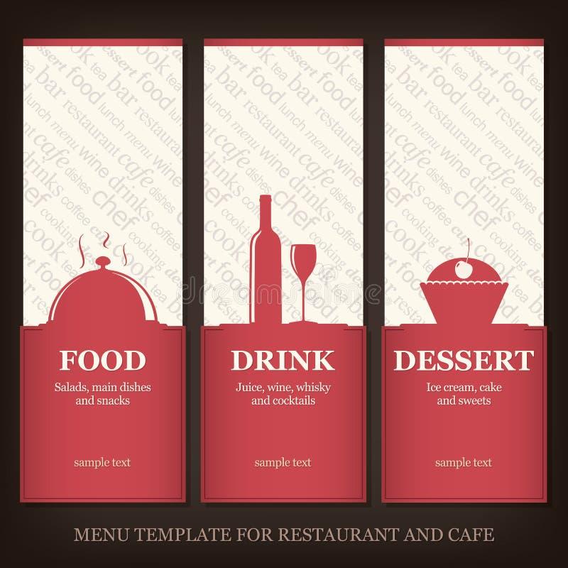 Het huismenu van het restaurant of van de koffie royalty-vrije illustratie