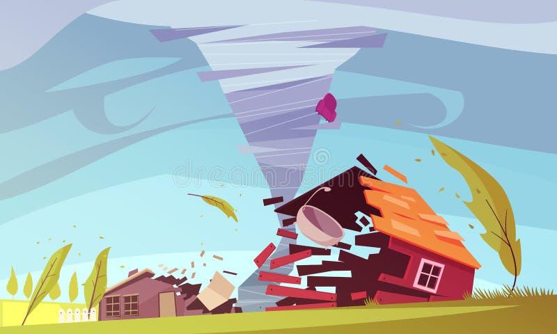 Het Huissamenstelling van de onweerswind stock illustratie