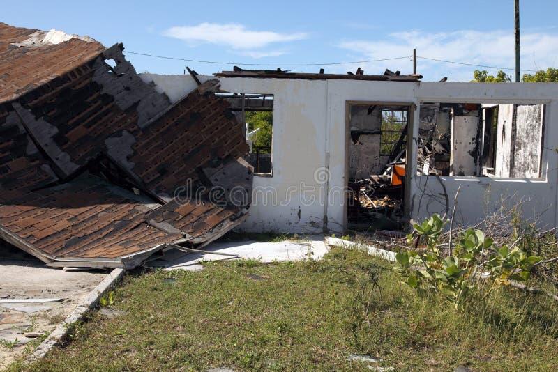 Het huisschade van de orkaan stock fotografie