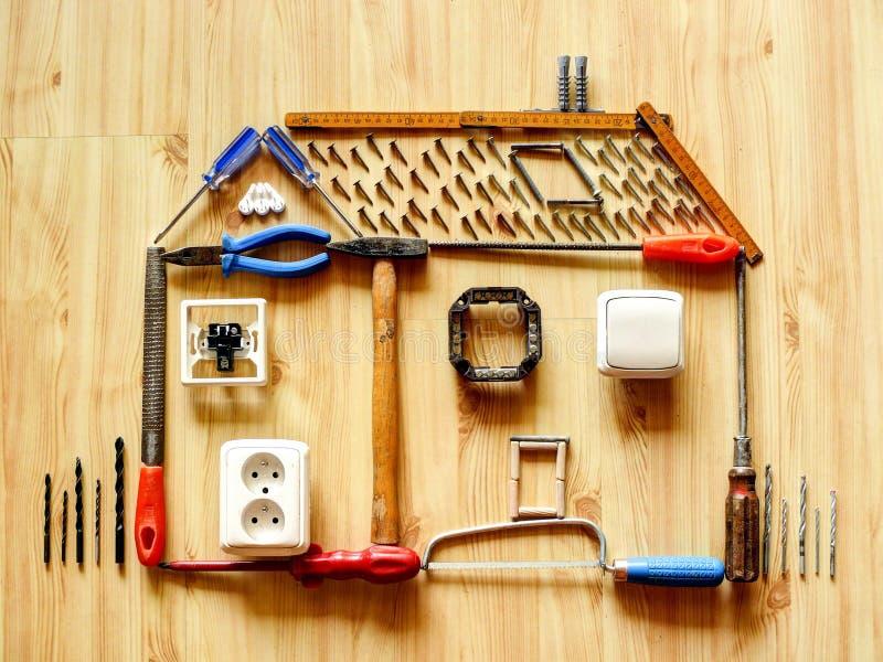 Het huisverbetering concept royalty-vrije stock afbeelding