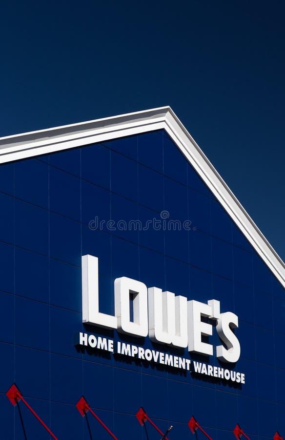 Het Huisverbetering van Lowe Pakhuisbuitenkant royalty-vrije stock foto's