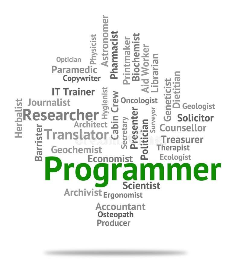 Het Huren van programmeursjob shows recruitment jobs and royalty-vrije illustratie