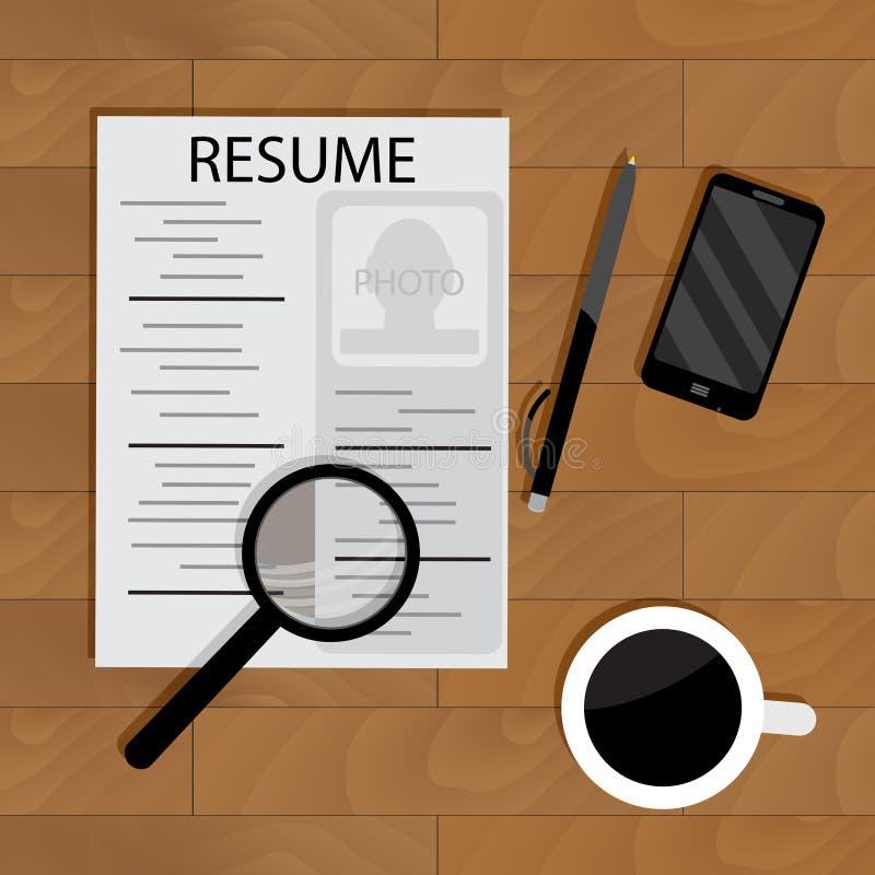 Het huren voor baan stock illustratie