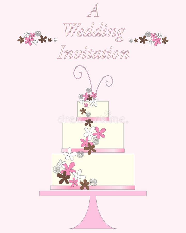 Het huwelijk nodigt uit stock illustratie