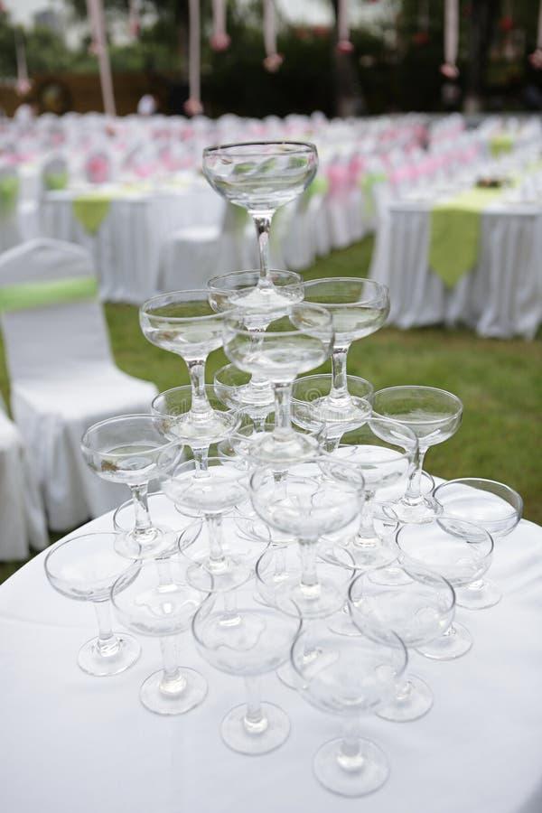 Het huwelijk van Champagne stock afbeeldingen