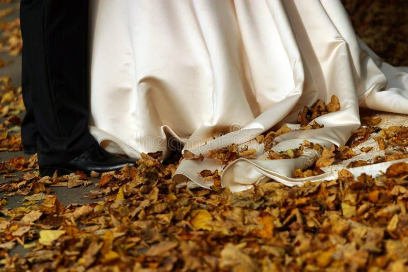 Het huwelijk van de herfst royalty-vrije stock afbeeldingen